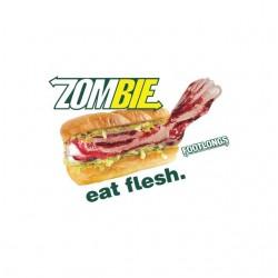 Subway t-shirt parody Zombie white sublimation