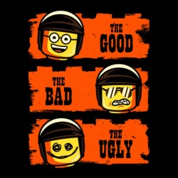 The good the bad the ugly black sublimation t-shirt