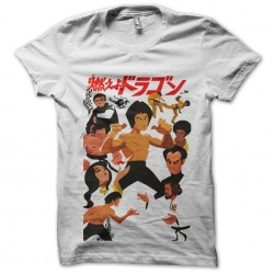 Bruce lee t-shirt in white...