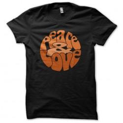 Peace Love T-Shirt Orange...