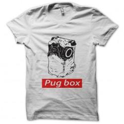 Pug box t-shirt white...