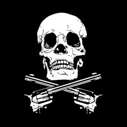 tee shirt tete de mort gun...