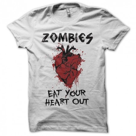 Tee shirt Zombies eat your heart out  sublimation