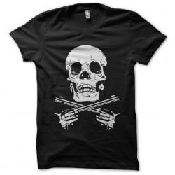 tee shirt tete de mort gun style  sublimation