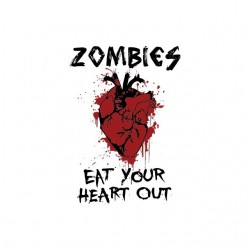 Zombies t-shirt eat your heart out white sublimation