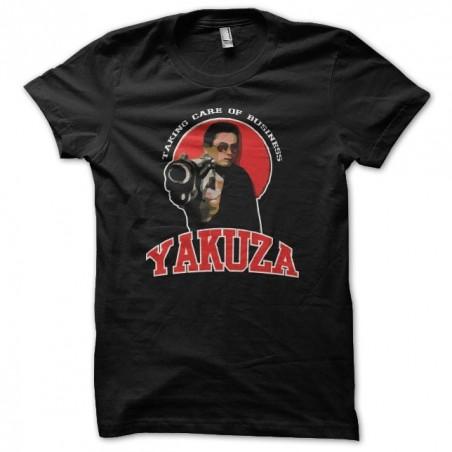 Yakuza t-shirt taking care of business black sublimation