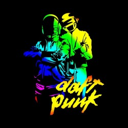 tee shirt daft punk color electro black sublimation