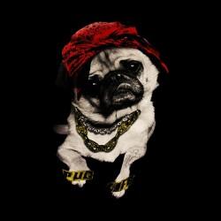 shirt Pug life style black sublimation