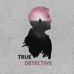 tee shirt true detective serie americaine gray sublimation
