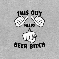 t-shirt guy needs a beer...
