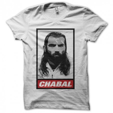 Chabal parody Obey rugby white sublimation tee shirt