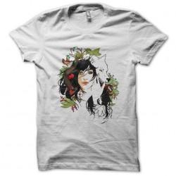 tee shirt dessin artistique femme et loup  sublimation