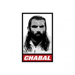 Tee shirt Chabal parodie Obey rugby  sublimation