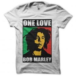 Bob Marley One love black white sublimation t-shirt