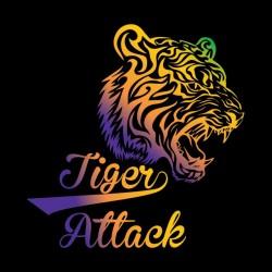 tee shirt tiger attack  sublimation