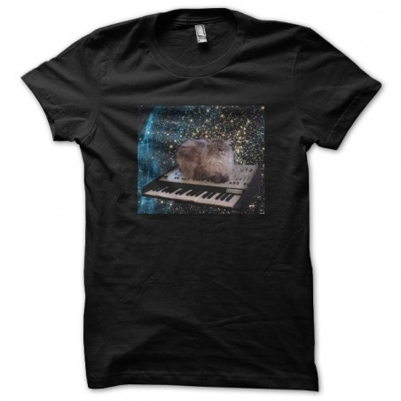 Space cats t-shirt, black sublimation space cats
