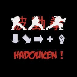 shirt hadouken street fighter combo black sublimation