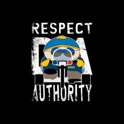 Respect My Authority Cartman South Park teeshirt black parody sublimation
