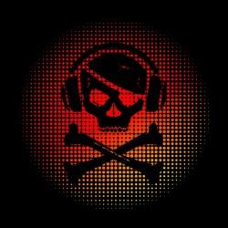 shirt music skull black...