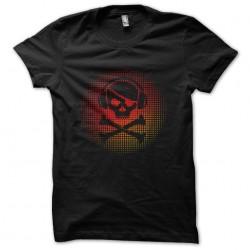 shirt music skull black sublimation
