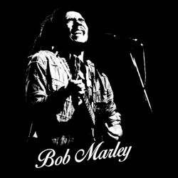bob marley tee-shirt in black frame sublimation