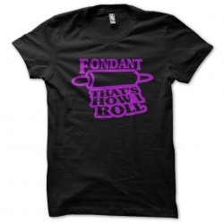 Fondant black sublimation t-shirt