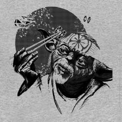tee shirt Yoda version japonaise gris sublimation
