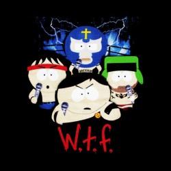 tee shirt South Park wtf black sublimation
