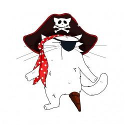 tee shirt chat pirate...