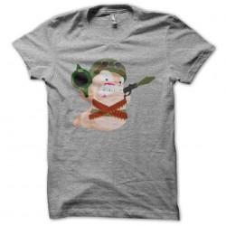 tee shirt Worms en guerre gris sublimation