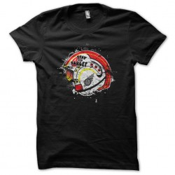 tee shirt Stay on target black sublimation