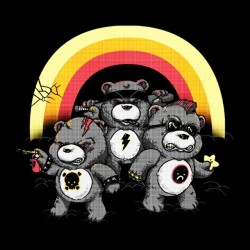 t-shirt angry bears black sublimation