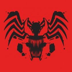tee shirt spider man mix venom red sublimation