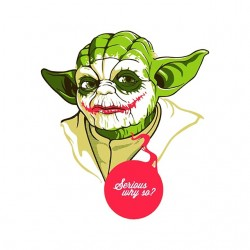 shirt Yoda as The Joker white sublimation