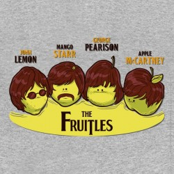 tee shirt The fruitles parodie beatles gris sublimation