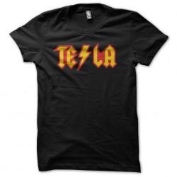 tee-shirt tesla black...