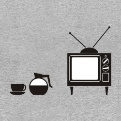 tee shirt coffe and tv blur gris sublimation