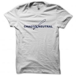 shirt Chaoti Neutral white sublimation