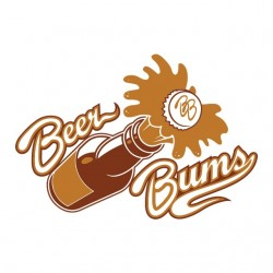 tee shirt Beer bums white...