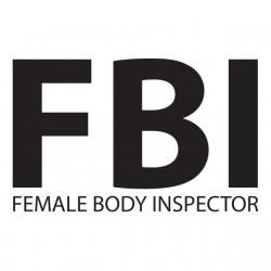 tee shirt FBI female body inspector white sublimation