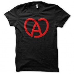 Alsace heart black sublimation t-shirt