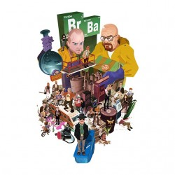 tee shirt breaking bad perso version anime  sublimation