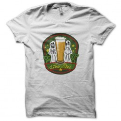 Beer gees t-shirt parody bee gees white sublimation