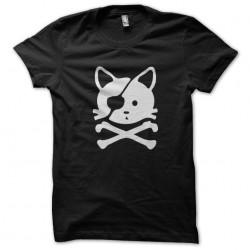 t-shirt cat pirate black...