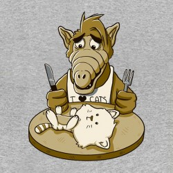 alf t-shirt and the gray sublimation cats