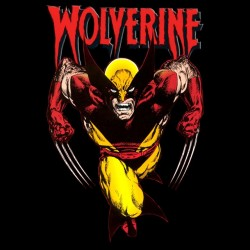 Wolverine t-shirt red version on black sublimation