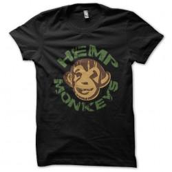 shirt Hemp monkeys black sublimation
