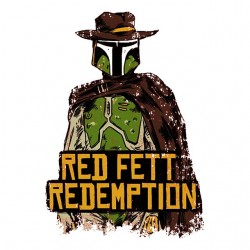 red fett redemption white sublimation t-shirt