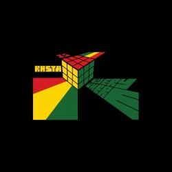 Rasta t-shirt Rubik's Cube black parody sublimation