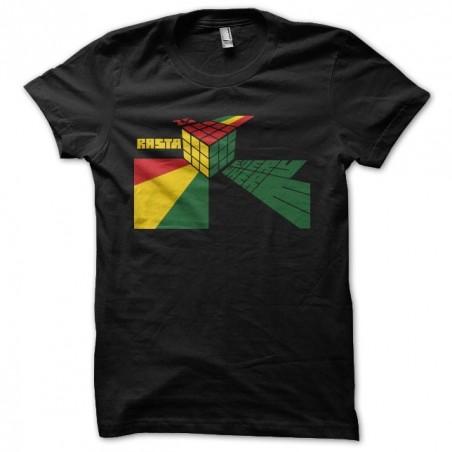 Tee shirt rasta Rubik's Cube parodie  sublimation